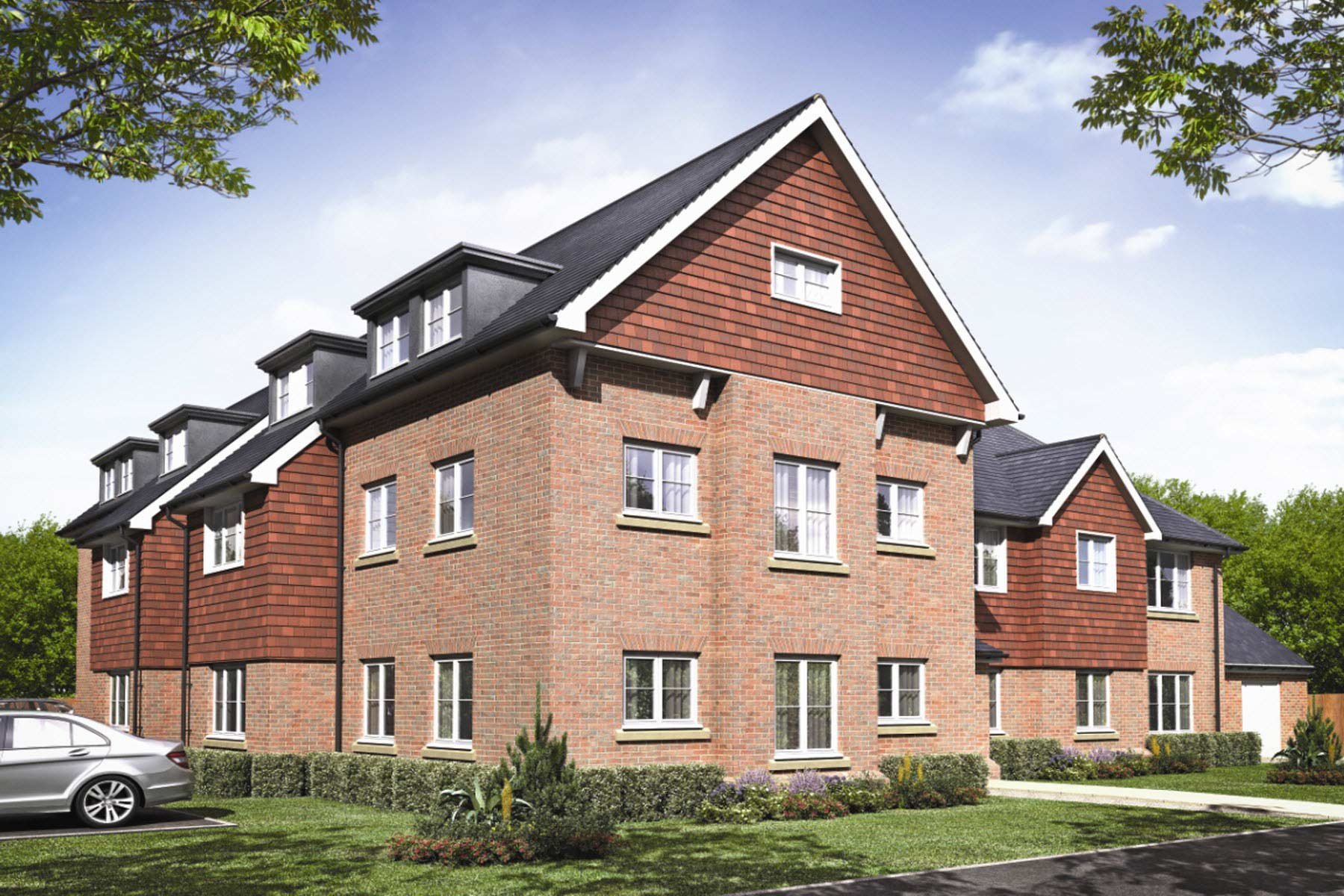 CGI of Cypress Court - 1 & 2 bedroom apartments at Avery Heights, New Eltham