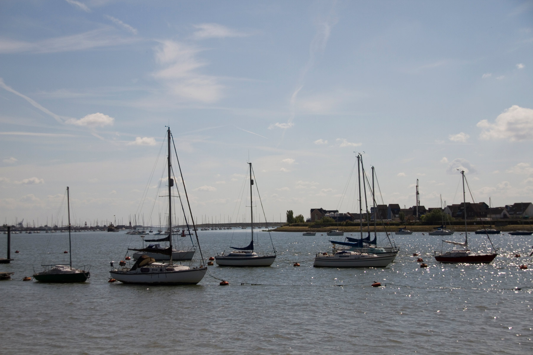 Boats in Upnor harbour