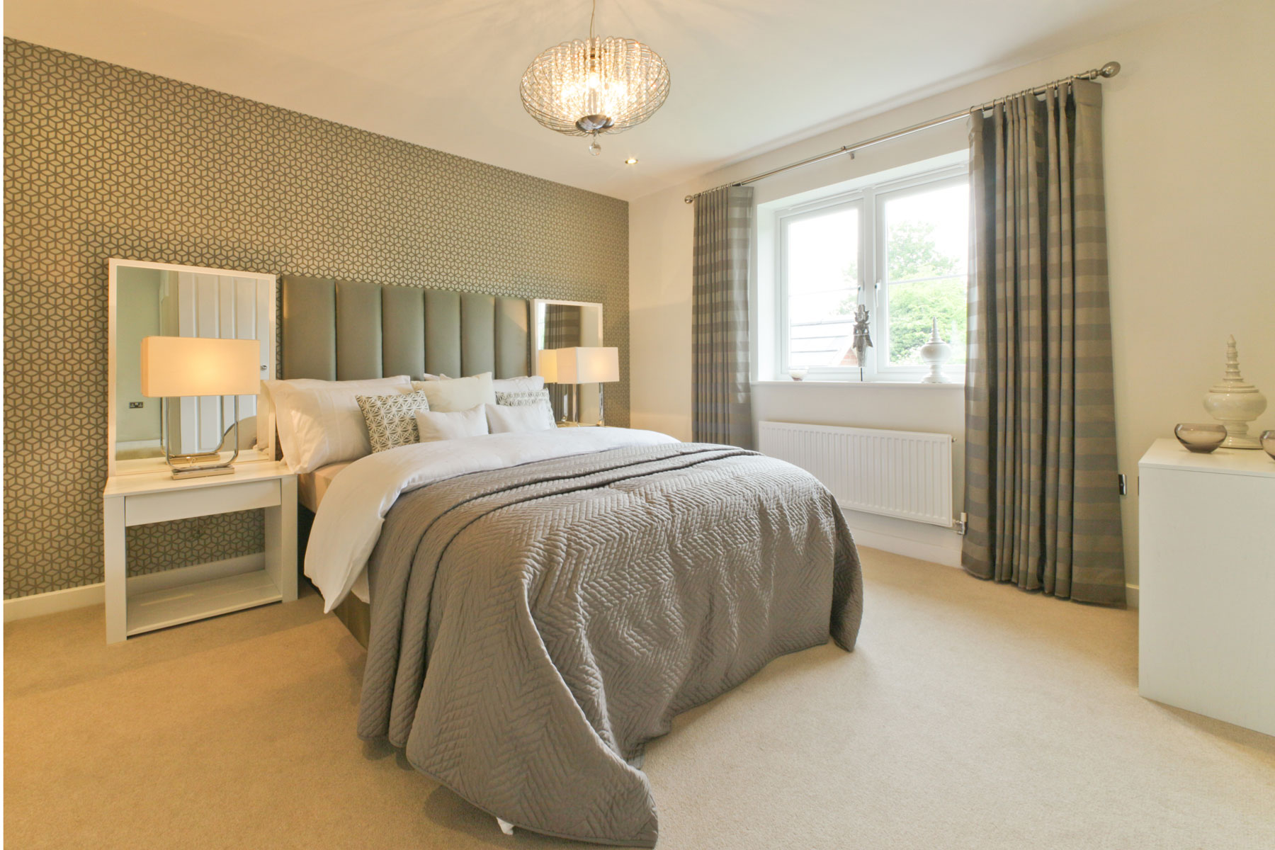 A typical Taylor Wimpey master bedroom.