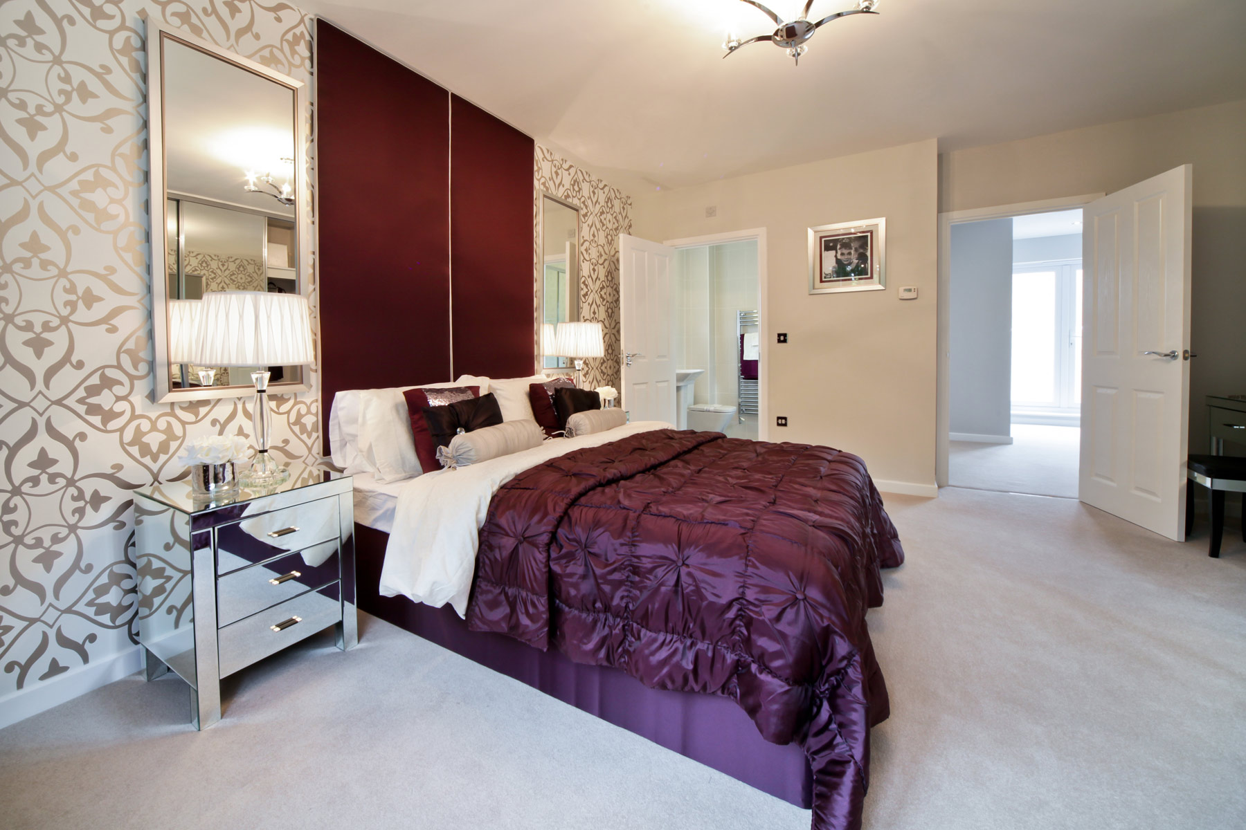A typical Taylor Wimpey master bedroom