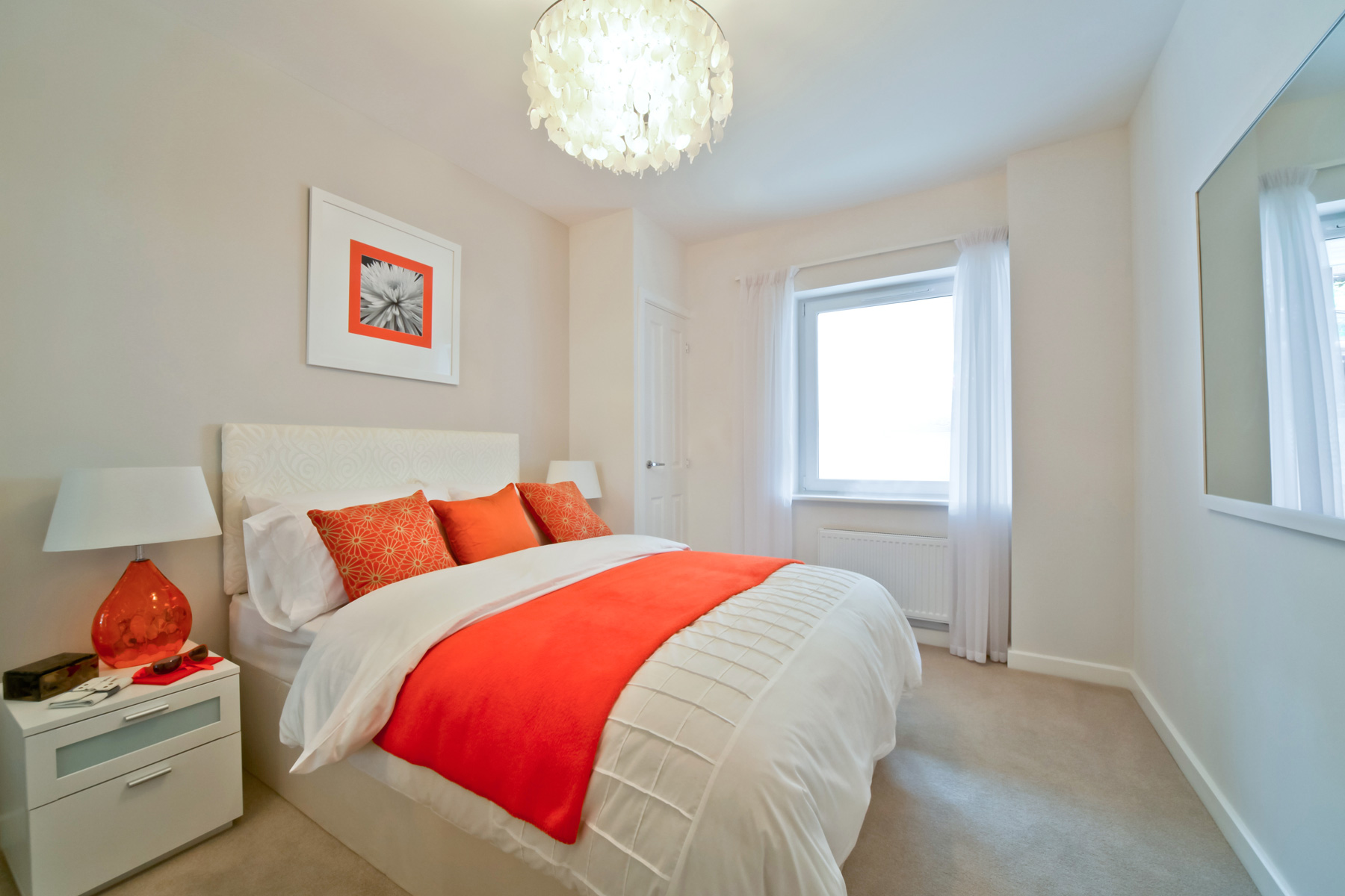 A typical Taylor Wimpey apartment bedroom.