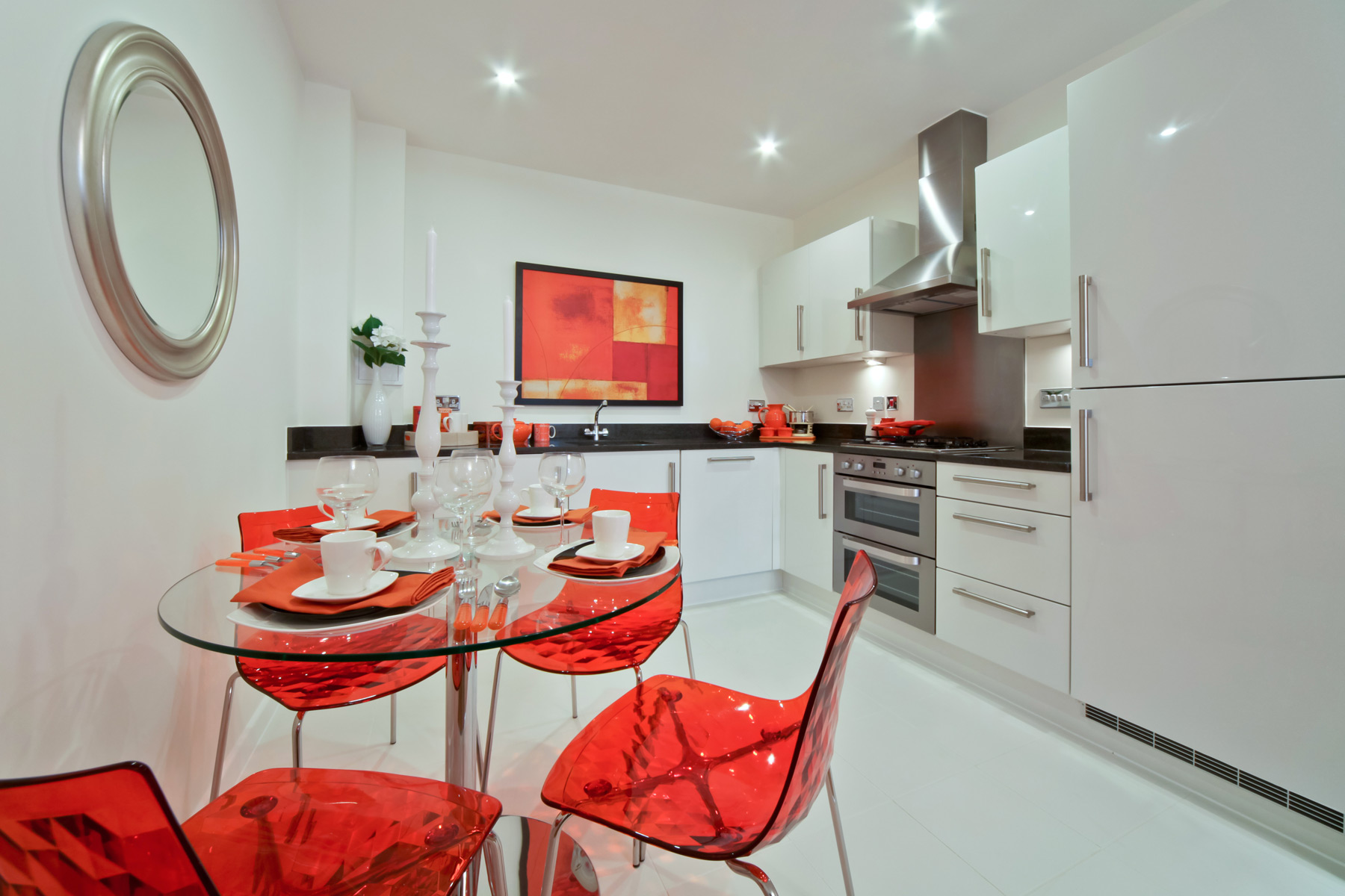 A typical Taylor Wimpey apartment kitchen.