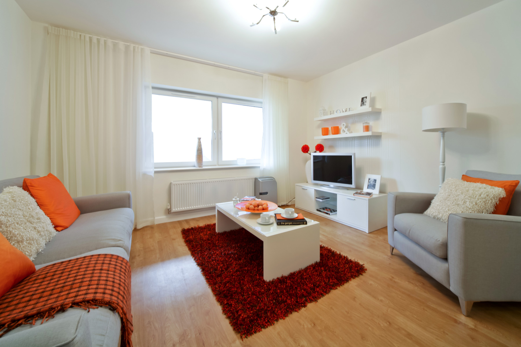 A typical Taylor Wimpey apartment living room.
