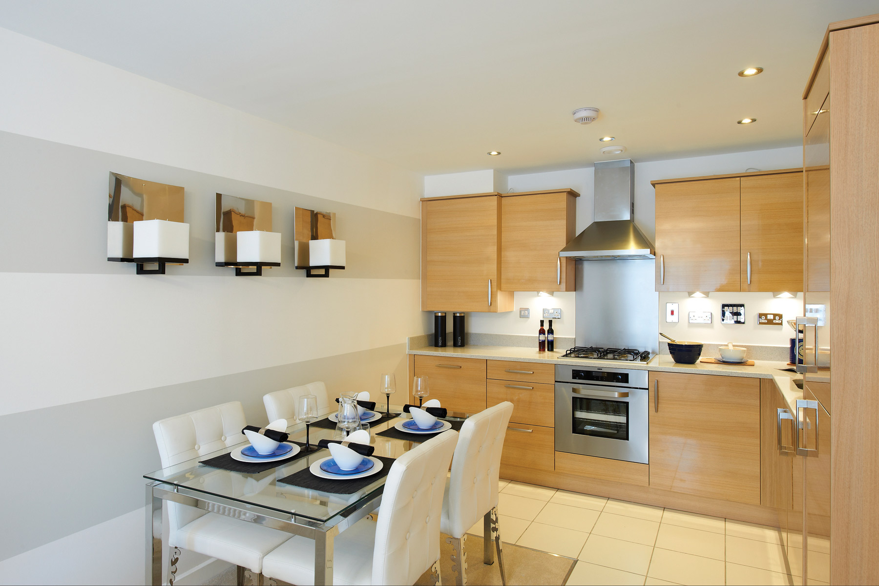 A typical Taylor Wimpey apartment kitchen