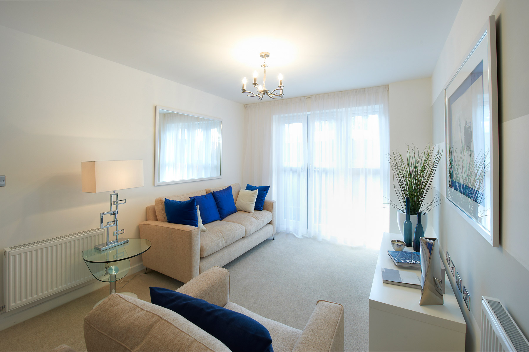 A typical Taylor Wimpey apartment living area.