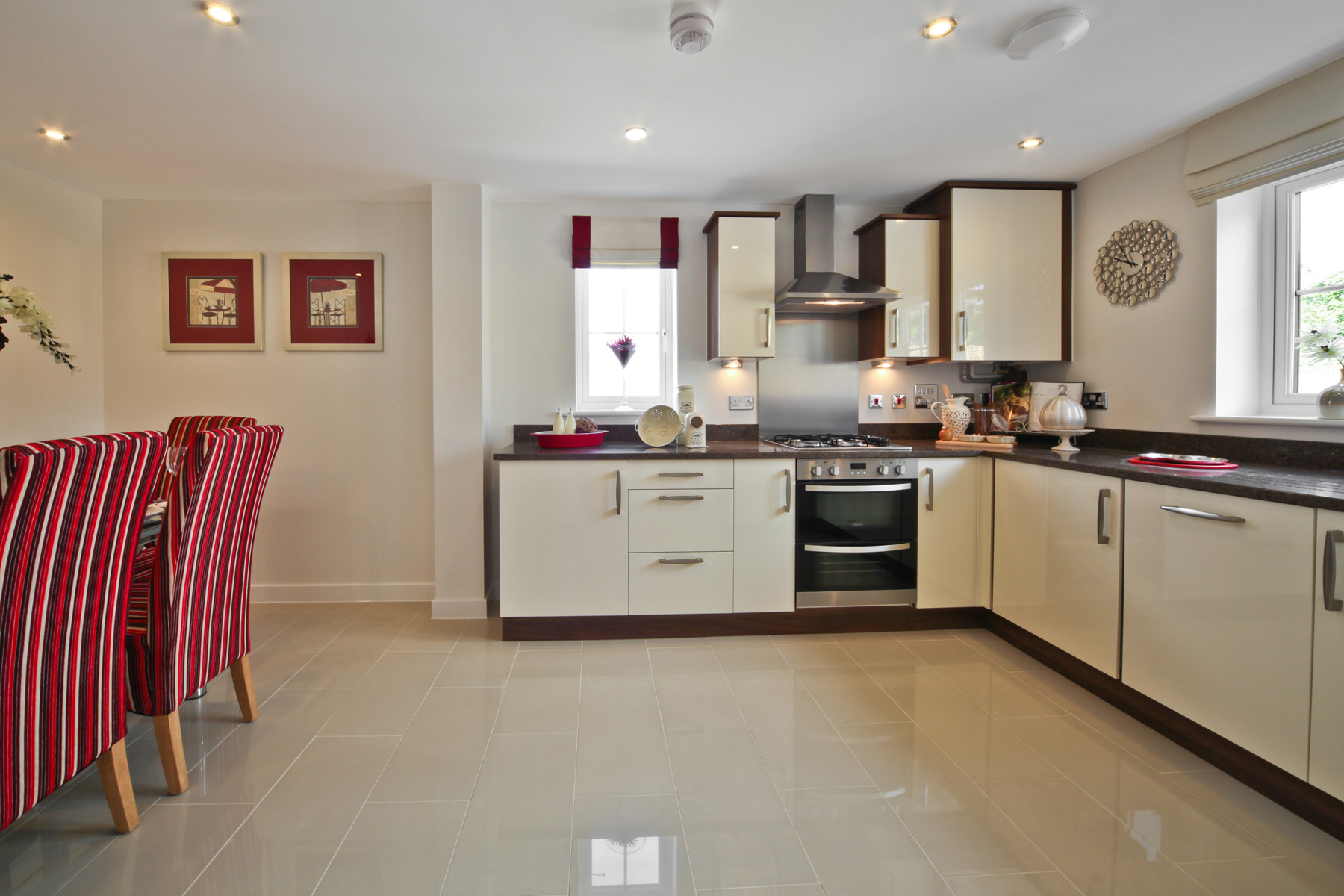 A typical Taylor Wimpey kitchen dining area.