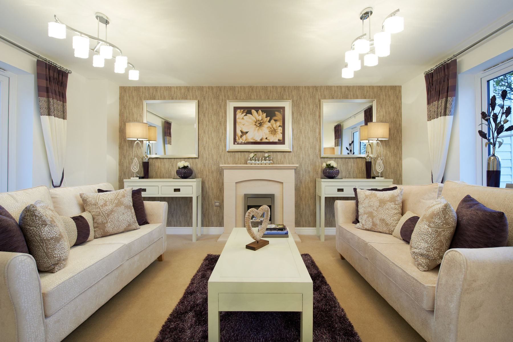 A typical Taylor Wimpey living room