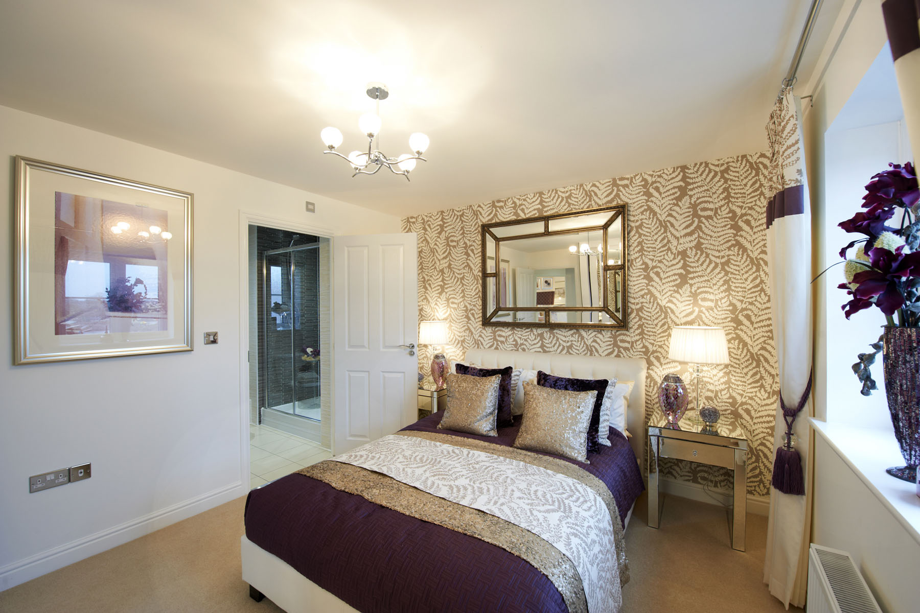 The Sherston en suite bedroom