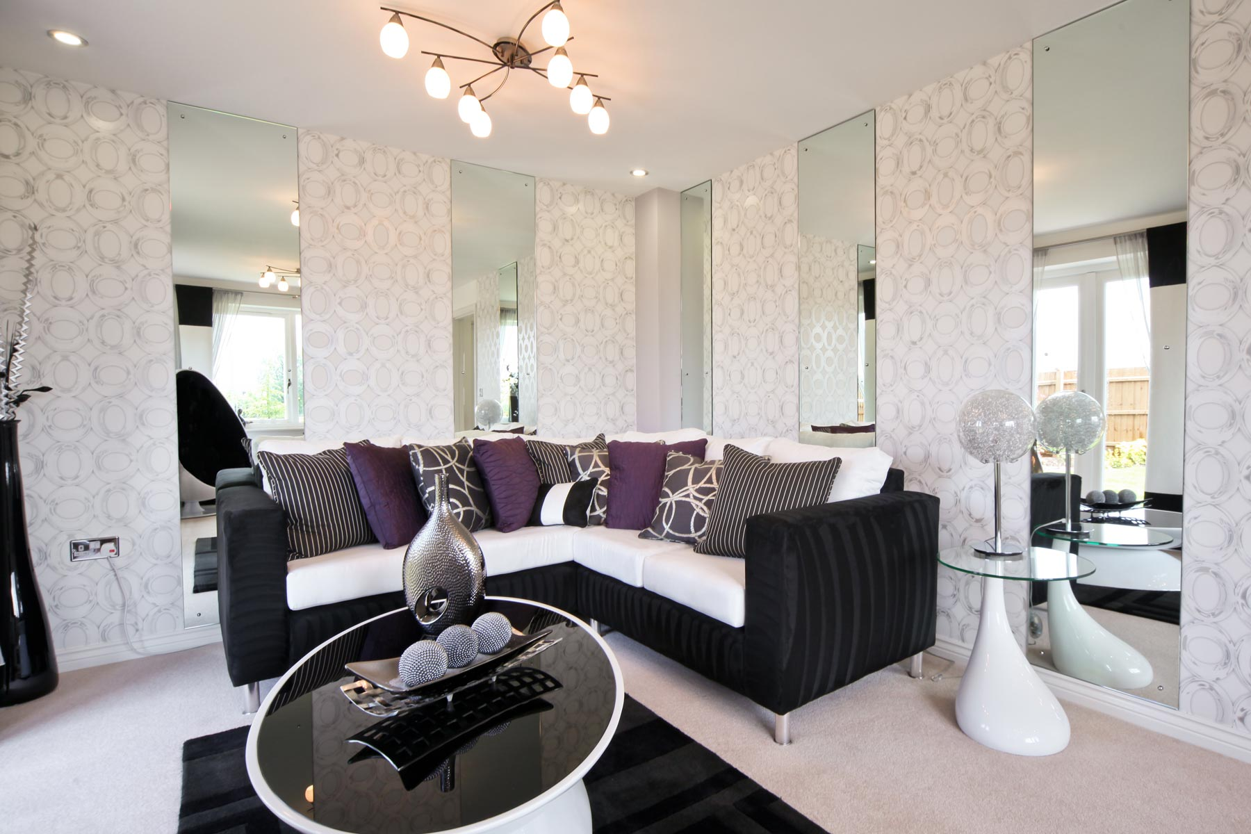 Photo of the lounge from the Kirkstone show home at Kingston Chase