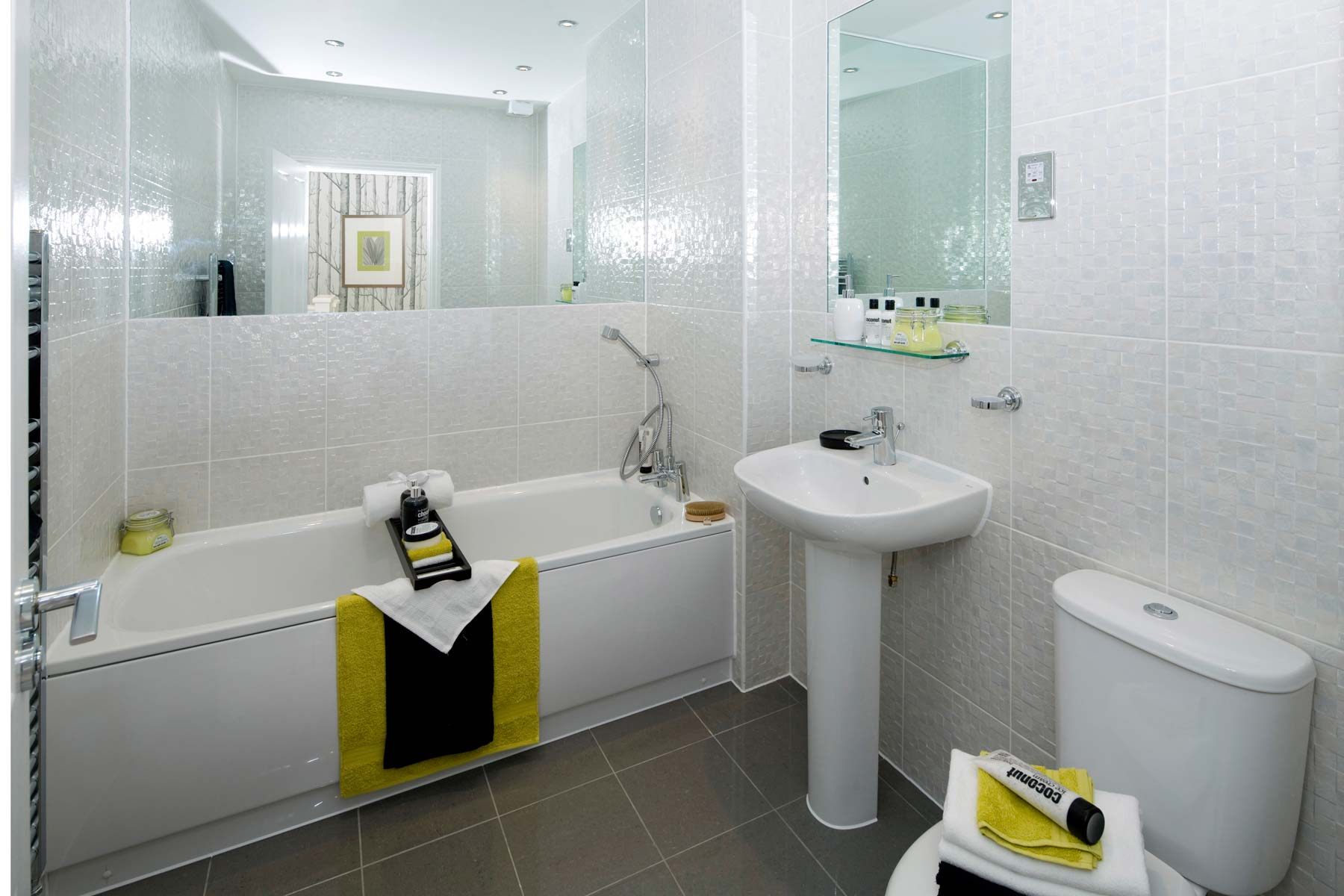 A Typical Taylor Wimpey Show Apartment Bathroom