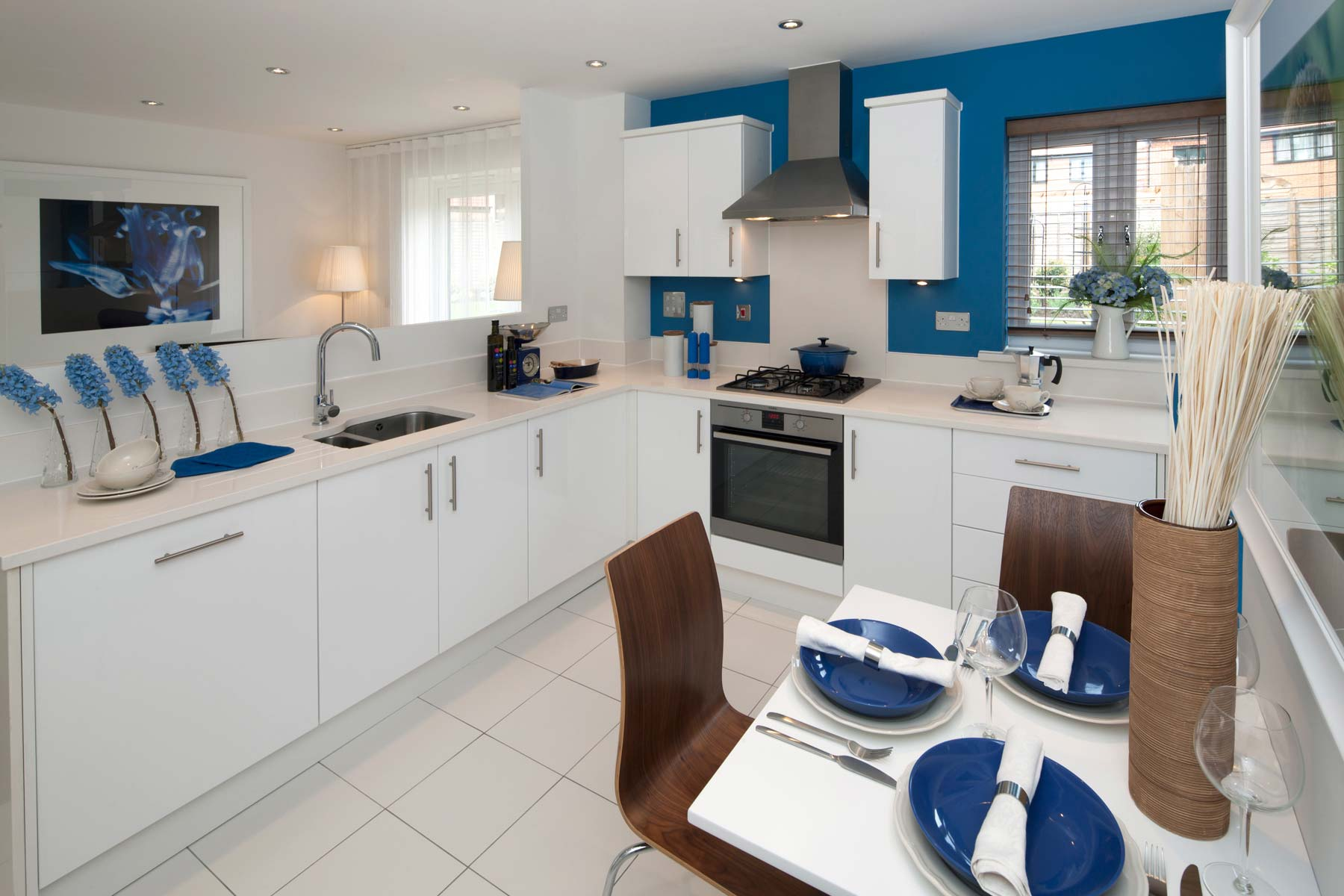 The Osterley Showhome kitchen at Leybourne Chase