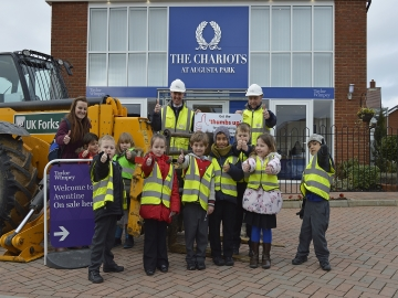 TWSC - The Chariots - Endeavour school site visit WEB