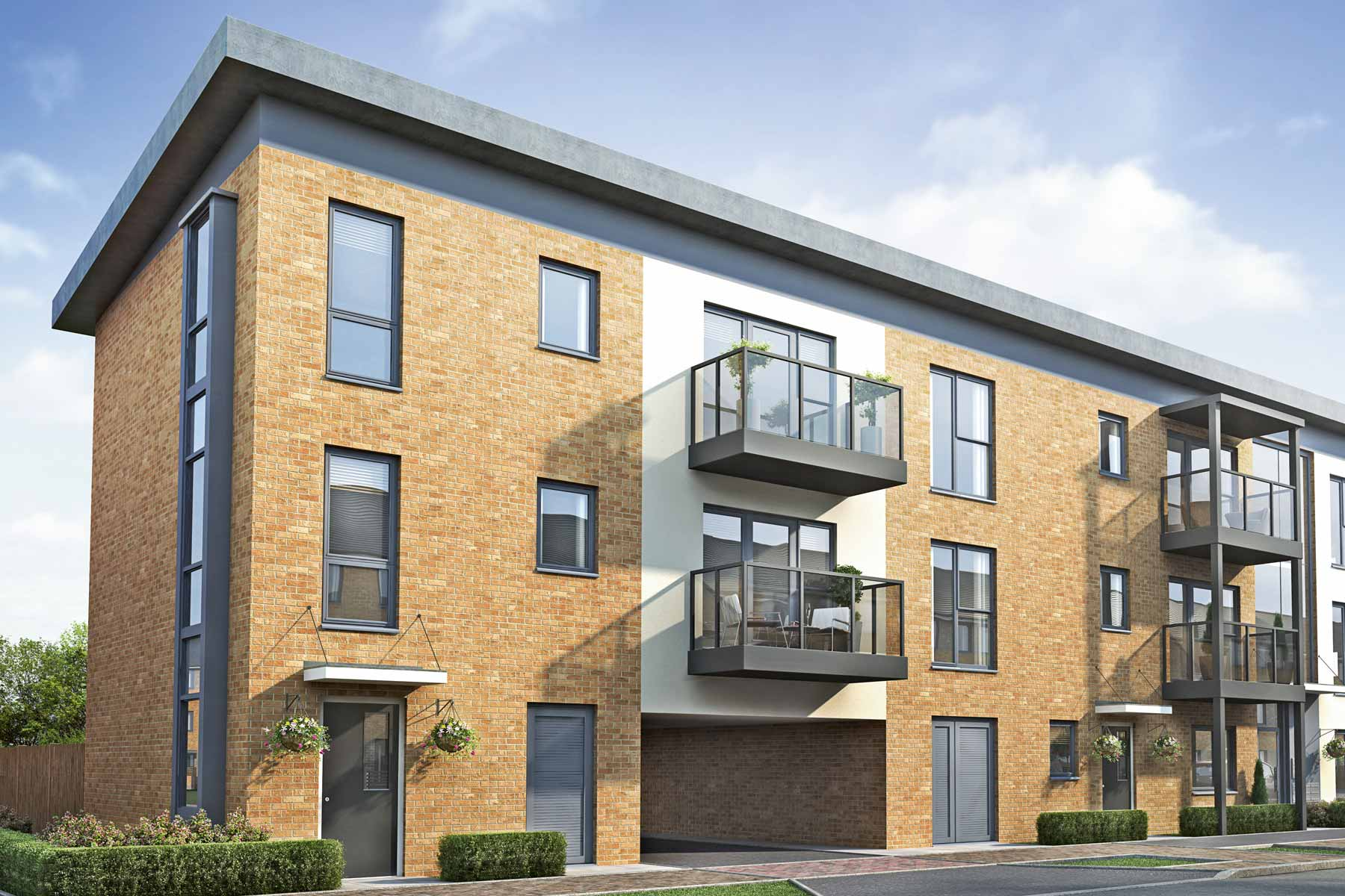 Artists impression of Haslar House apartments