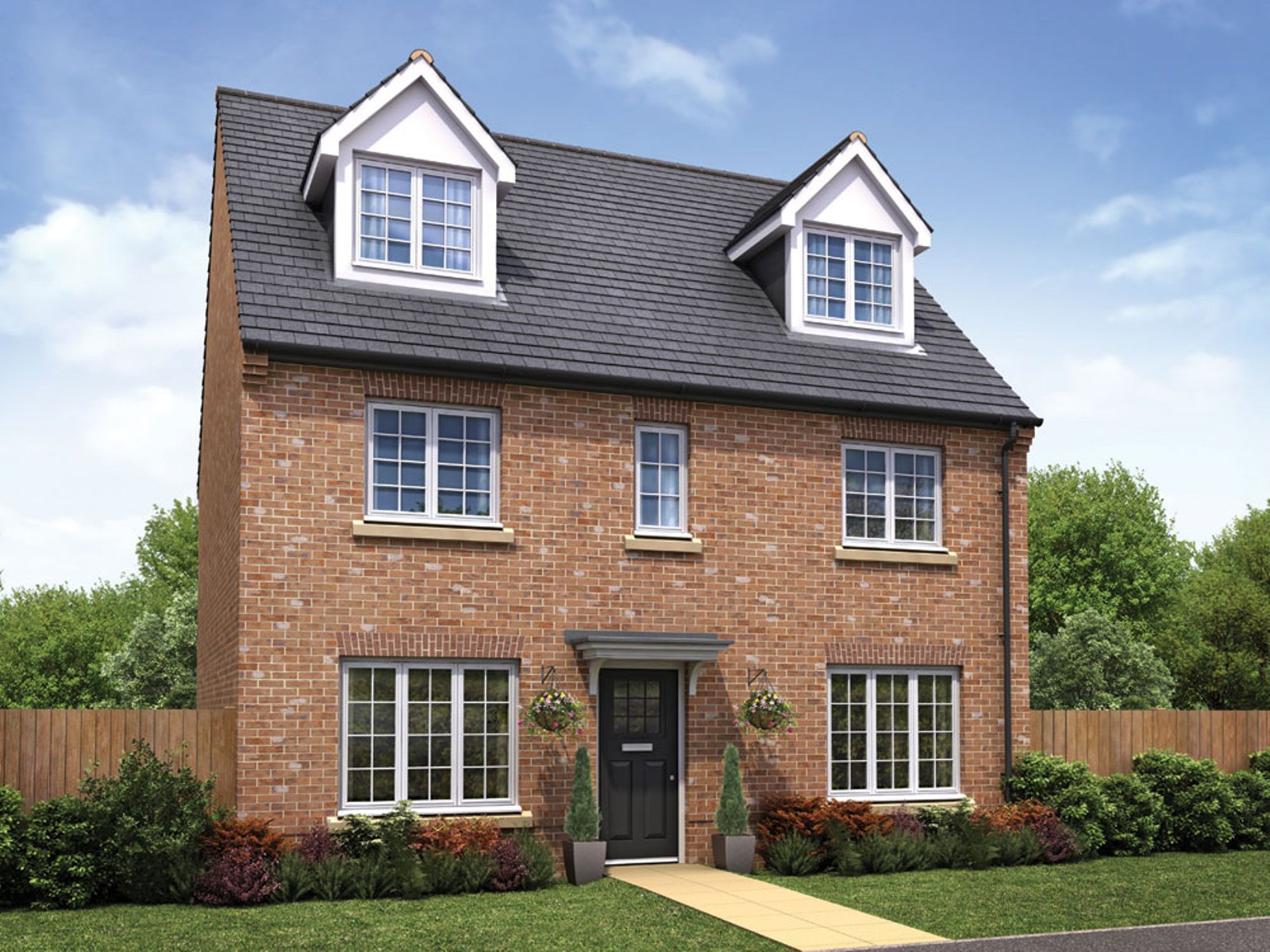 Taylor Wimpey - Pipers Green - Exterior - The Wilton - 5 bed new home